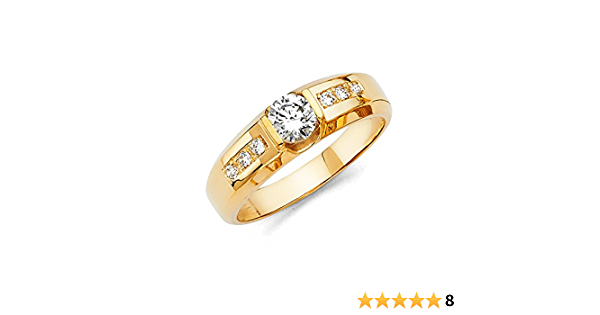 Multiple Sizes Available Mens 14k Yellow Gold Wedding Band