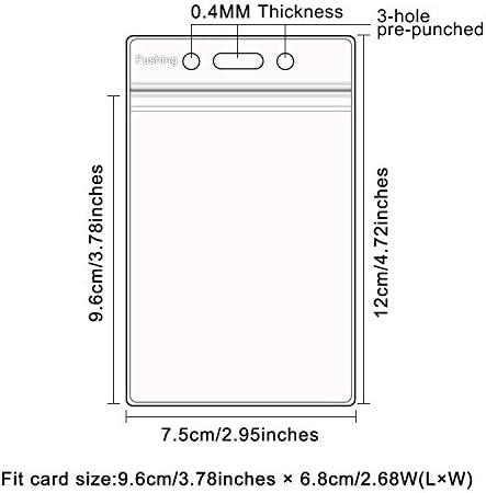 Hot Transparent Vertical Hard Plastic ID Badge Holder Double Card Case 2X MK8S