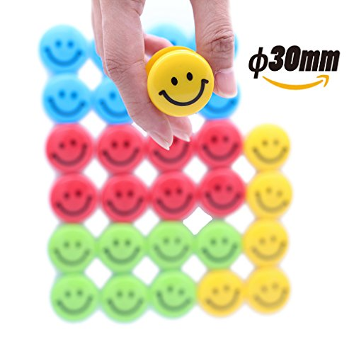 Lucky Cion 30mm Smile Whiteboard/Refrigerator Magnet 30pcs/Tub Display-Assorted Colors Photo #4