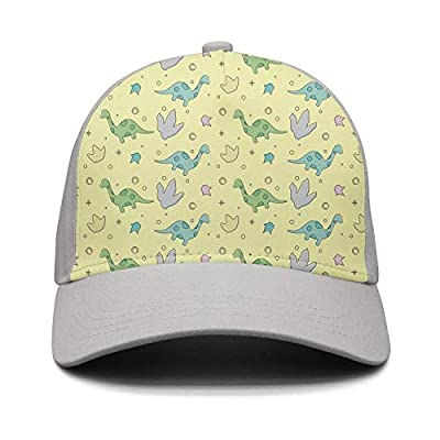 Wlpjsjkd Unisex Cartoon Dinosaurs and Footprint Summer Baseball Hats
