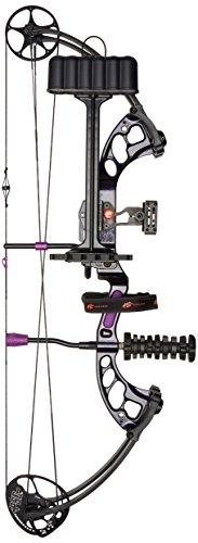 PSE Ready to Shoot Stinger X 40lb Stiletto Compound Bow, Purple, Right
