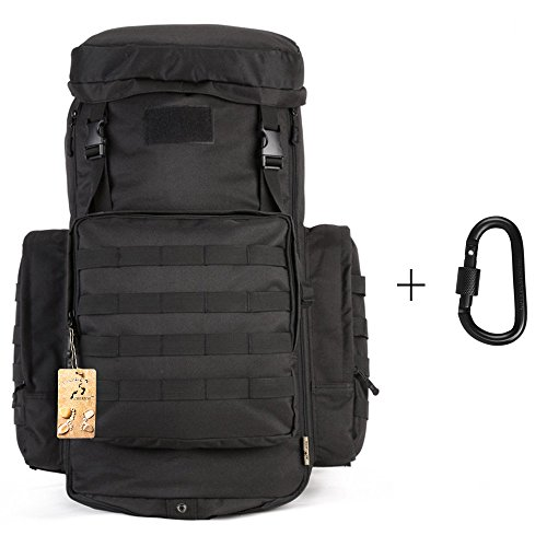 70-85L Large Capacity Tactical Travel Backpack MOLLE Hiking Rucksack Outdoor Travel Bag for Travelling Trekking Camping Hiking Hunting & Sports Events