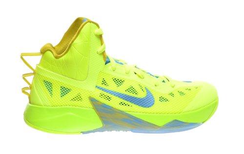 Nike Zoom Hyperfuse 2013 Men's Basketball Shoes Volt/Vivid Blue-Bright Citron 615896-700 (13 D(M) US)
