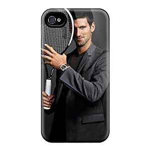 For Cynthaskey Iphone Protective Case, High Quality For Iphone 4/4s Novak Djokovic Celebrities Skin Case Cover