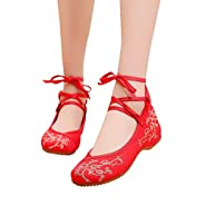 RAINED-Women Flats Shoes Chinese Embroidery Ballet Lofers Slip on Comfortable Bohemia Round Toe Flats Shoes Cloth Shoes