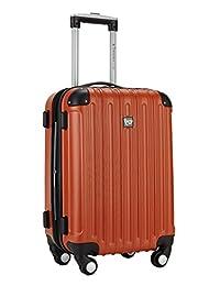 Travelers Club Luggage Madison 20 inch Expandable Hardside Carry, Orange