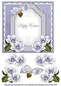 Lisa edoff feliz Pascua Fancy 7 in Decoupage Topper por Ann-Marie Vaux