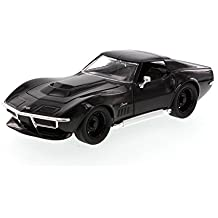 1969 Chevy Corvette Stingray ZL-1, Black - Jada Toys Bigtime Muscle 96887 - 1/24 scale Diecast Model Toy Car (Brand New, but NO BOX)