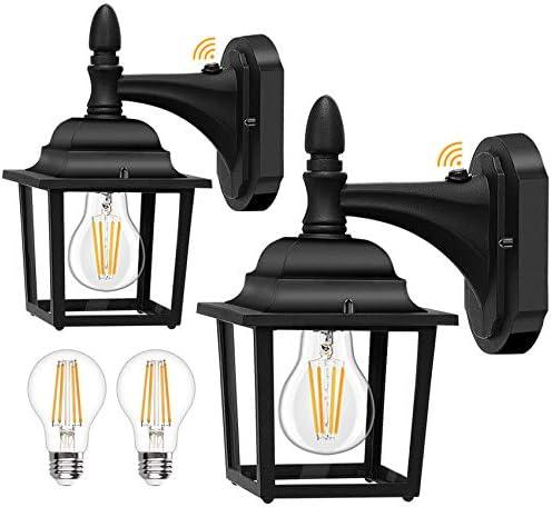 Dusk to Dawn Sensor Outdoor Wall Lanterns 2 Pack