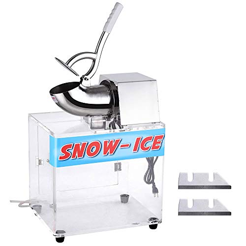 Yescom 250W Electric Snow Cone Maker Shaver Commercial Ice Crusher Stainless Steel with Case 2500 r/m 440 lbs ()