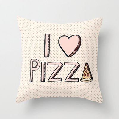 Graebnersalestore 18x 18inch Pastoral Style Cotton Linen Decorative Throw Pillow Cover Cushion Case I Love Pizza New Arrival Comfortable H 276 Buy Online In Cayman Islands At Cayman Desertcart Com Productid 37373810