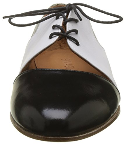 Emma Go Damen Casey Derbys, Noir (Cordoban Black and Calf White and Boa), 39 EU