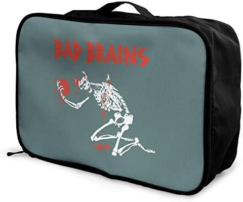 アレンジケース バッド ブレインズ 旅行用トロリーバッグ 旅行用サブバッグ 軽量 ポータブル荷物バッグ 衣類収納ケース キャリーオンバッグ 旅行圧縮バッグ キャリーケース 固定 出張パッキング 大容量 トラベルバッグ ボストンバッグ