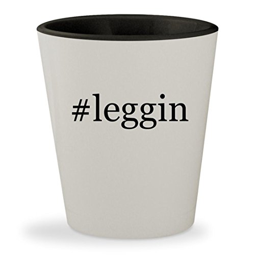 Price comparison product image #leggin - Hashtag White Outer & Black Inner Ceramic 1.5oz Shot Glass