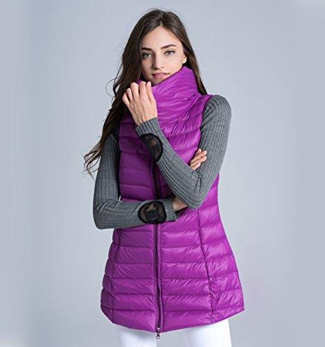 ヘクタールプロトタイプ安定した秋冬スリムスタンド襟ダウンベスト_purple_XL