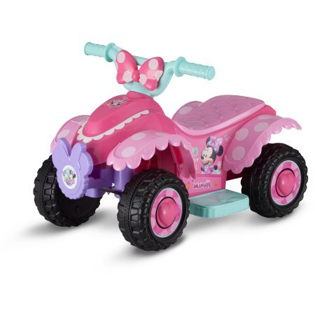 6V Adorable, Fun, Fully Assembled, Colorful, Safe for Kids, Disney Minnie Mouse Happy Helper Quad