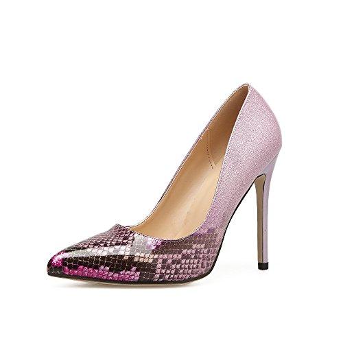 y con ZHZNVX la fina nueva tacón una la de y alto de sola verano boquilla luz primavera elegante de el pink punta la los La zapatos 8rR86B