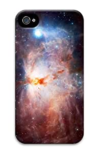 cases customize cosmic nebula flame PC Case for iphone 4/4S