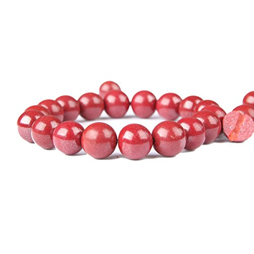 - GTVERNH gift/Cinnabar Bracelet Ben Year Female Transfer Bead Bracelet Send Girlfriend 6Mm