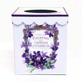 White Retro Tissue Holder, Tissue Box Cover, Tissue Box