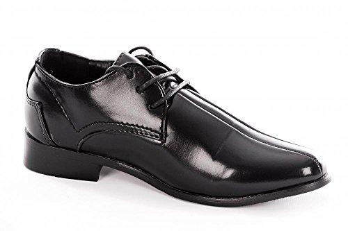 Les garçons et les nourrissons Tramline Point Black Lace Shoe jusqu'à formelle Enfant de 3 à 4 garçons plus âgés