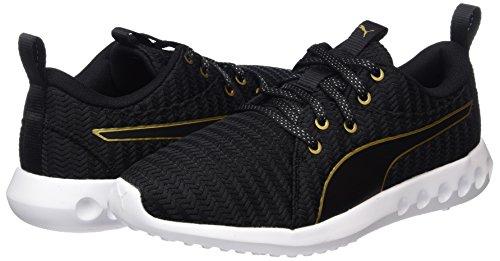 Metallic De Puma Deporte black Negro Exterior 2 Para Zapatillas Carson gold Mujer EFxFwgIqU