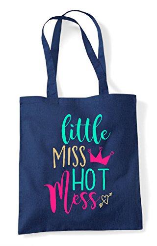 Little Tote Navy Statement Miss Mess Hot Shopper Bag IaIrt
