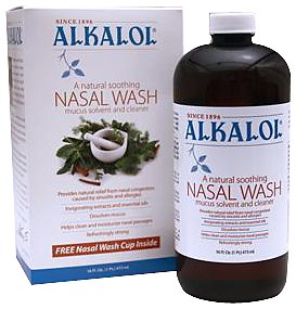 Alkalol – A Natural Soothing Nasal Wash, Mucus Solvent and Cleaner Kit –  with Cup, 16-oz., Health Care Stuffs
