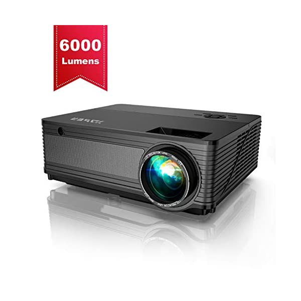 Projector, YABER Native 1080P LED Projector 5500 Lux Full HD Video Projector (1920...