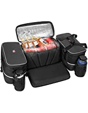 kemimoto ATV Storage Bag w/Cushion Soft Cooler Bags Water-resistant Rear Cargo Gear Seat Bags
