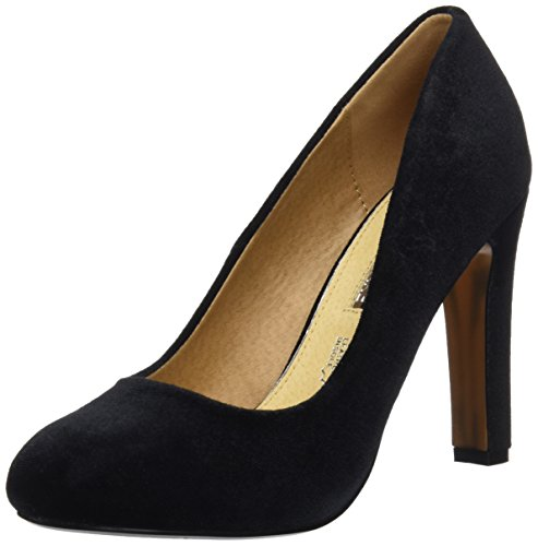 velvet Tacón Mare Mujer De Negro Para Chanty Negro Zapatos Maria c4qIW88