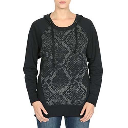 Dkny Animal Print - DKNY Jeans Ladies' Tunic With Hood-Black Animal, Medium