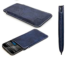 caseroxx funda tipo estuche para Cubot Note S de cuero artificial - Funda protectora para el smartphone (estuche en azul)