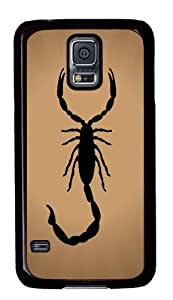 Hot Samsung Galaxy S5 Fashional Printed Customized Unique Print Design Scorpion Silhouette Graphics New PC Black Galaxy S5 Cases by ruishername