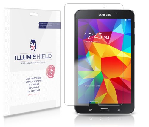 iLLumiShield - Samsung Galaxy Tab 4 8.0 Screen Protector Japanese Ultra Clear HD Film with Anti-Bubble and Anti-Fingerprint - High Quality (Invisible) LCD Shield - Lifetime Replacement Warranty - [2-Pack] OEM / Retail Packaging
