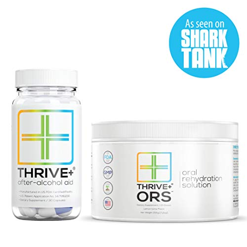 Thrive+ After Alcohol Aid & ORS Combo | for Fast Alcohol Detox & Rehydration Recovery After Drinking Alcohol. Replenish with Our Electrolyte Formula … (Single)