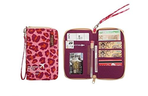M Square Travel Wallet Passport Document Organizer Pen