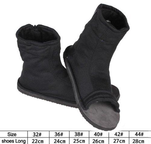 NuoYa001 Naruto Shippuuden Cosplay Costume Accessories - Black Ninja Shoes / Sandals 44# (US 10.5) (Ninja Shoes Naruto compare prices)