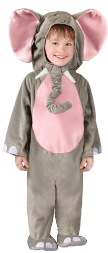 Fun World Costumes Baby's Cuddly Elephant Toddler Costume, Grey, Toddler 3T-4T]()