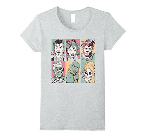 Womens Zombie Family Movie - Scary Halloween Shirt for Men & Women Small Heather Grey