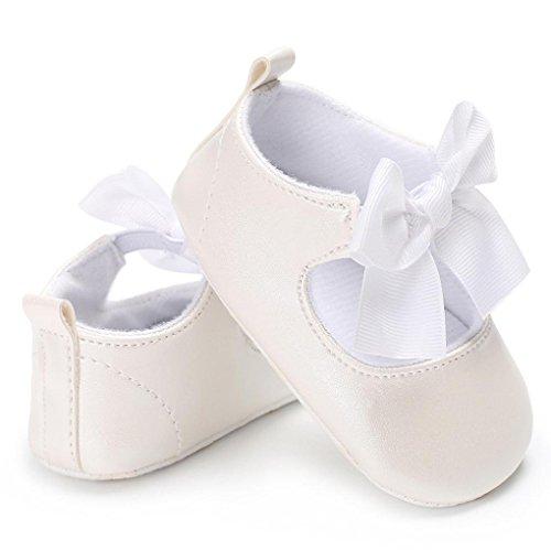 Igemy 1 Paar Baby Bowknot Prinzessin Weiche Sole Schuhe Kleinkind Sneakers Casual Schuhe Weiß