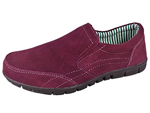 On Leather Ladies Burgundy Coolers Shoes Burgundy Olive Black Sport Casual Slip Suede BxwIO