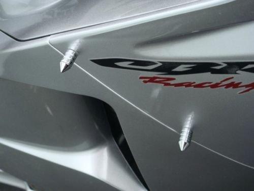 Chrome Spike Fairing & Windscreen Bolts for Honda CBR600RR CBR1000RR CBR 600RR 1000RR F3 F4i RR Kawasaki Ninja 250 300 500 ZX6R ZX10R Suzuki GSXR600 GSXR750 GSXR1000 GSXR 600 750 ()