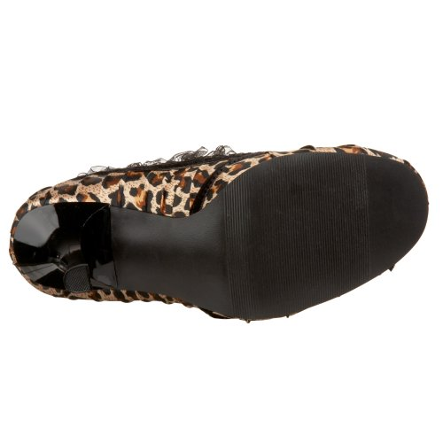 Satin Pleaser Dainty Funtasma Cheetah by M Women's 420 Pump 7 A5U0AOqtn