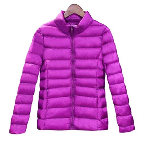 Gocgt Womens Packable Ultra Light Weight Short Down Jacket Coats Purple