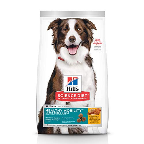 Hill's Science Diet Dry Dog Food, Adult, Large Breed, Healthy Mobility for Joint Health, Chicken Meal, Brown Rice & Barley Recipe, 30 lb Bag (Hills Science Diet Dog Food)