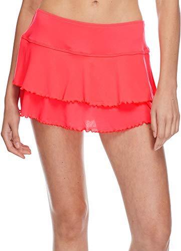 Body Glove Women's Smoothies Lambada Solid Mesh Cover Up Skirt Swimsuit, Diva, Medium