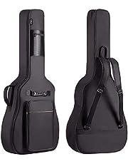 CAHAYA Funda de Guitarra Universal Acolchada Versión Actualizada de 8mm con 2 Bolsillos para Guitarra Acústica y Clásica con Tamaño Más Grandes para Guitarra de 40/41/42 Pulgadas