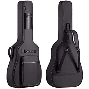 CAHAYA Gitarrentasche Akustikgitarre Gig Bag Guitar Case wasserdicht gepolsterte Gitarre Rucksack Soft Case(verbesserte…