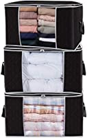 Lifewit Large Capacity Clothes Storage Bag Organizer with Reinforced Handle Thick Fabric for Comforters, Blankets,...